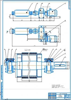 5.Станция приводная, сборочных чертеж механизма А1