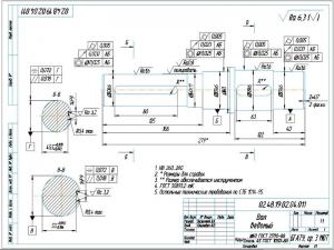 5.Ведомый вал А3 с указанием материалов для изготовления