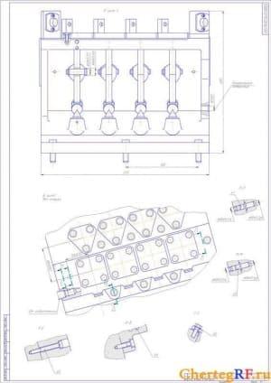 Планировка участка с условными обозначениями и перечнем оборудования (формат А1)