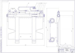 5.Чертеж каретки смещении электропогрузчика с указанием размеров (формат А1)