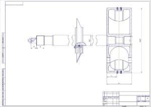 5.Сборочный чертеж компрессора в масштабе 1:1, с проставлением размерности (формат А2)