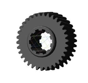 6.Чертеж детали ведомого колеса модель 3d