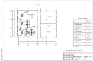 6.План – 2-ой вид (лист №6) План на отметке 6.000 в осях Г-Ж
