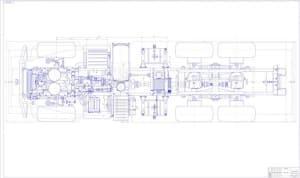6.Чертеж СБ шасси в сборе в масштабе 1:5, с указанными размерами (формат А1)
