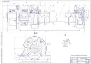 6.Сборочный чертеж приводного вала в масштабе 1:1, с техническим требованием: сверлить и развернуть совместно с рамой транспортера (формат А1)