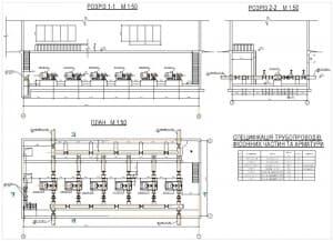 7.Насосная станция 2-го подъема. План и разрезы (формат А1)