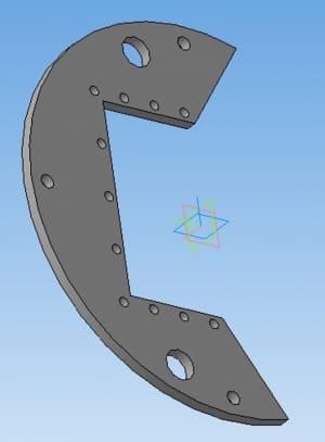 7.3D моделирование пластины конструкции