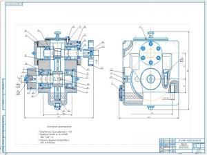7.Сборочный чертеж редуктора цилиндрического одноступенчатого А1