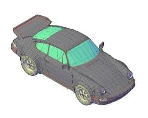 7.Чертеж общего вида автомобиля легкового Carrera в 3D формате