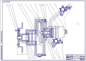 8.Передний левый колесный редуктор в сборе (формат А1)