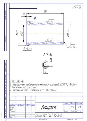 8.Втулка – чертеж детали (формат А4)