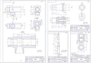 деталей корпус, болт специальный и талреп в формате А4