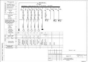 8.Чертеж схемы электрической принципиальной 380/220В (начало) здания СТО (формат А3)