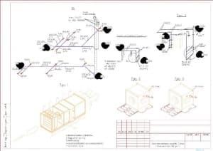 8.Чертеж схемы теплоснабжения установки П1