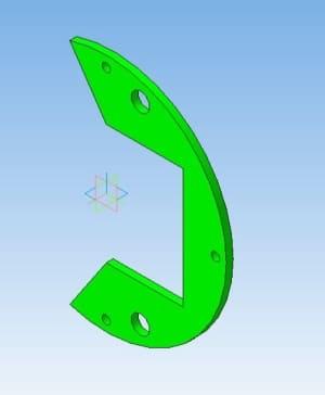 9.Модель фигурной пластины в 3D