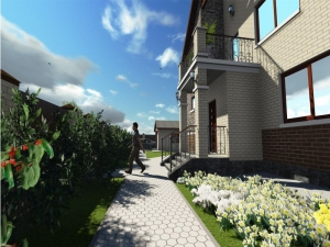 9.3-D модель входа жилого дома