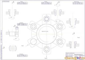 Чертеж схемы механической обработки с видами операций (формат А1)