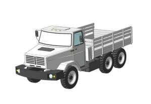 9.Чертеж СБ автомобиля грузового ЗИЛ-433440 в 3D формате