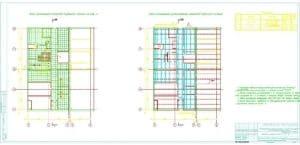 9.Чертеж схемы расположения элементов подвесного потолка на отметке + 3.200, схемы расположения дополнительных элементов подвесного потолка