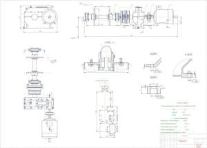9.Чертеж общего вида привода цепного транспортера в масштабе 1:1, с техническими характеристиками
