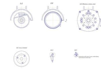 Чертеж сечений с чертежа №8 (формат А1)