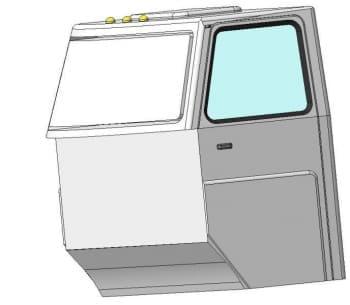 10.Чертеж детали кабина автомобиля грузового ЗИЛ-433440 в 3D формате