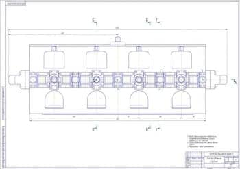 Сборочный чертеж приспособления спутник с техническими требованиями: перед сборкой трущиеся поверхности смазывать консистентной смазкой циатим 221 Г0СТ 9433-80, усилие необходимое для зажима детали 3500 Н, маркировать: завод изготовитель (формат А1)