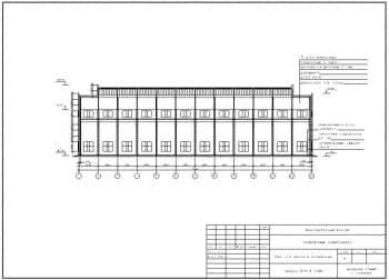 10.Чертеж разреза 2-2 цеха для ремонта комбайнов в масштабе 1:300, с указанием размеров и отметок (формат А3)