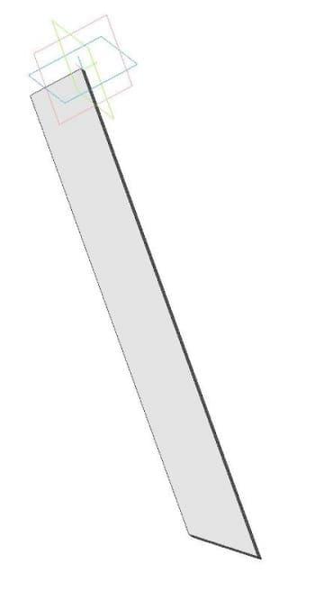 10.Чертеж держателя щетки левого в 3D формате