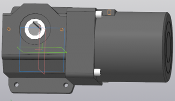 3D модель двигателя 4IK25GN-CWE с редуктором 4GN150RH