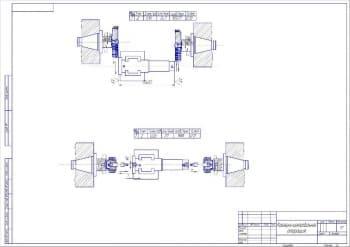 1.Чертеж фрезерно-центровальной операции в масштабе 1:1, с указанными размерами (формат А2)