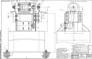Большой набор рабочих чертежей узлов и деталей алмазно-заточного станка со спецификацией