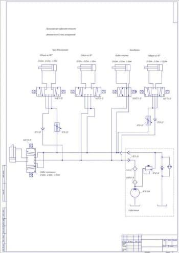 Чертеж схемы автоматической смены инструмента на станках с ЧПУ