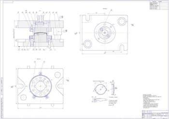 Сборочный чертеж штампа для отбортовки с техническими требованиями