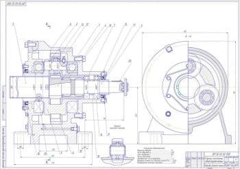 1.Сборочный чертеж редуктора планетарного одноступенчатого в масштабе 1:1