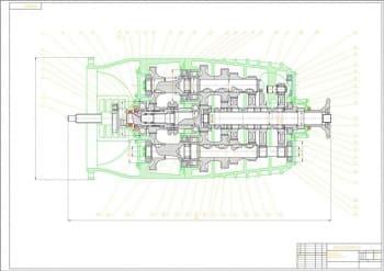 Сборочный чертеж коробки передач грузового автомобиля КамАЗ-5320