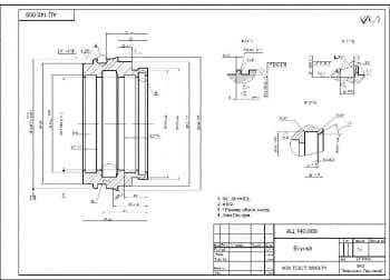 Деталировочный чертеж втулки массой 7.1, в масштабе 1:1