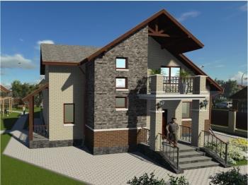 Проект конструкции индивидуального жилого дома мансардного типа