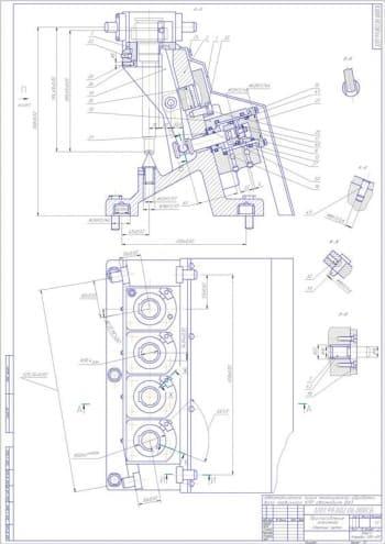 Набор чертежей автоматизированной линии механической обработки первичного вала КПП при ремонте автомобиля ВАЗ