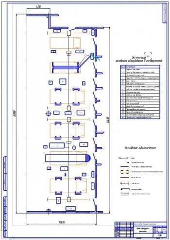 Планировочный чертеж зоны текущего ремонта