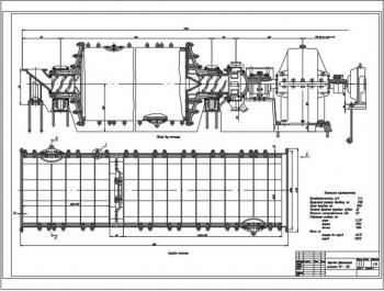 Проект шаровой двухкамерной мельницы СМ-436