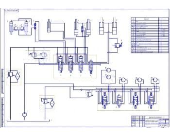 1.Схема гидравлическая принципиальная универсальной аэродромной машины на базе КамАЗа