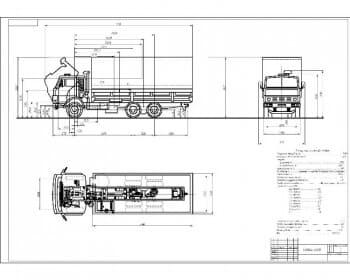 Чертеж автомобиля КАМАЗ-53212