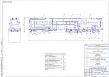 1.Общий вид выпровочно-подбивочно-отделочной машины ВПО-3000 (формат А1)