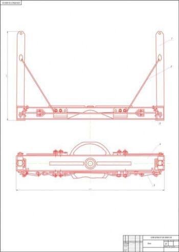 1.Чертеж сборочный коника (формат А1) в двух проекциях