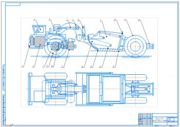 Проект рулевого управления, подвески, привода тормозов и седельно-сцепного устройства самоходного скрепера модификации ДЗ-11П