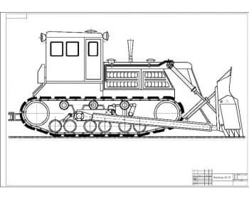 Чертеж бульдозера ДЗ-35