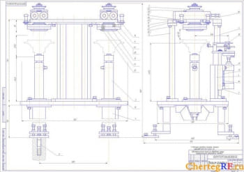 Чертежи автоматической линии механической обработки чашки дифференциала автомобиля КАМАЗ