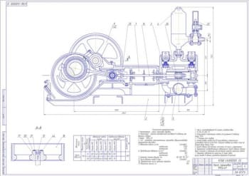 Чертеж бурового насоса поршневого типа 9МГр-61