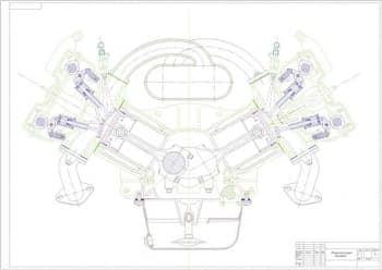 чертеж разрез поперечный (формат А1)